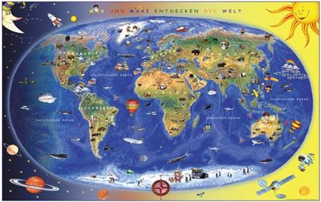 Maior mapa mundi Mapa sonho de consumo com 12 metros quadrados