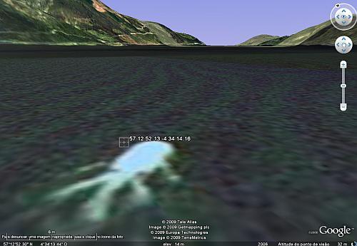 Monstro Lago Ness Google Earth Monstro do Lago Ness em imagem de satélite?