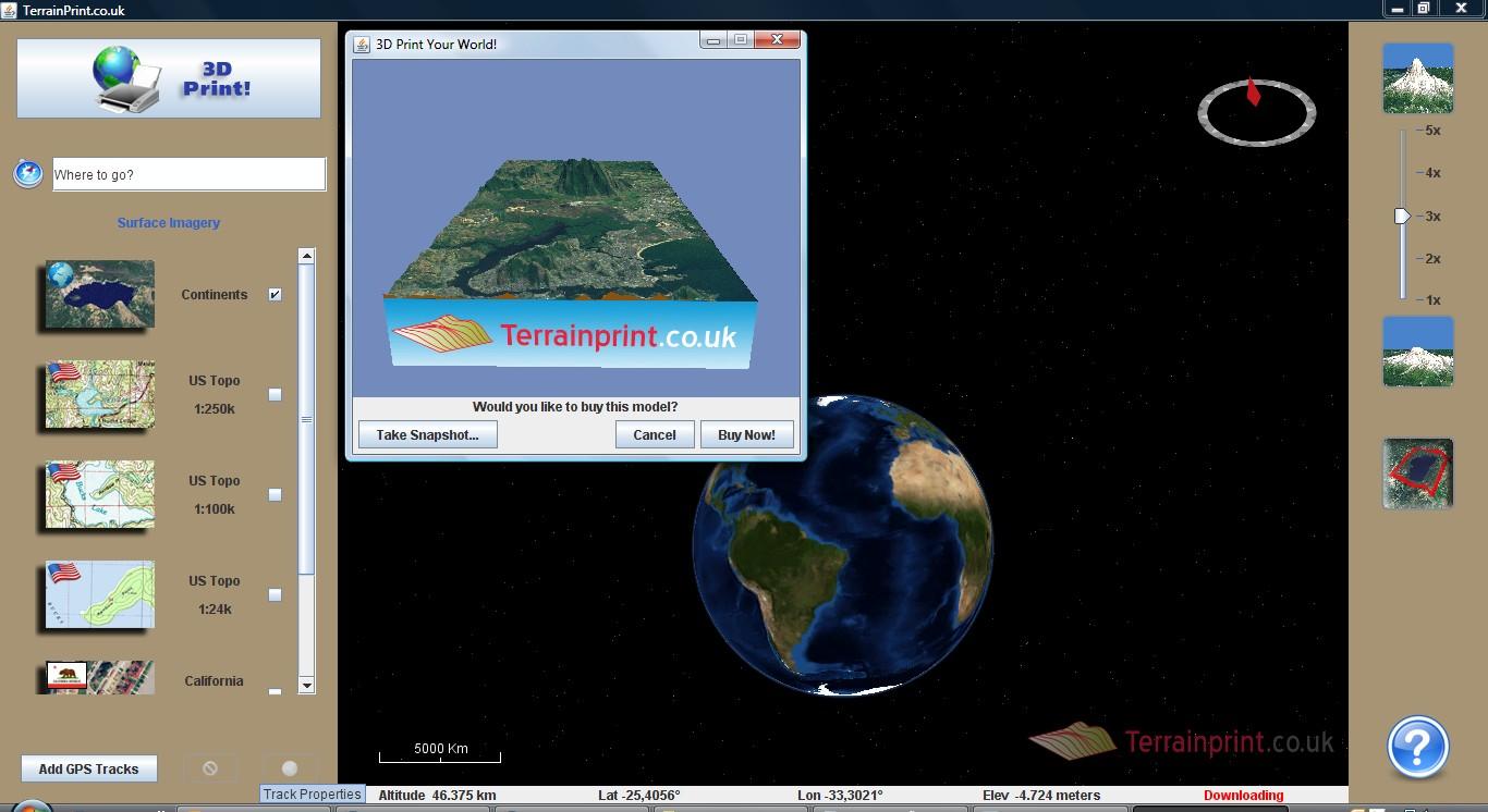 LandPrintModelSnapshot Da maquete em isopor à impressão 3D